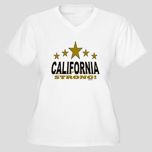 California Strong Women's Plus Size V-Neck T-Shirt