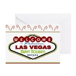 Las Vegas Happy Holidays Candy Canes Cards 10