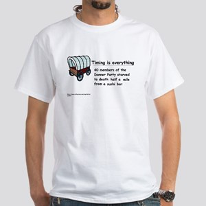 Timing Is Everything White T-Shirt