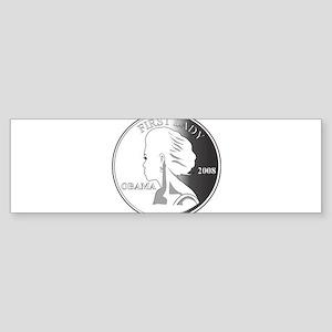 2-Michelle-GRAY1 Bumper Sticker