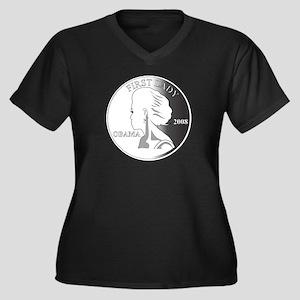 2-Michelle-GRAY1 Plus Size T-Shirt