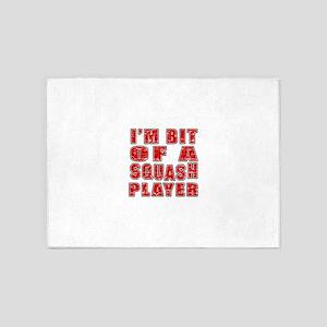 I'm Bit Of Squash Player 5'x7'Area Rug