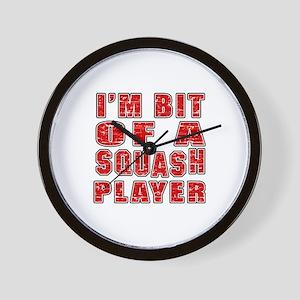 I'm Bit Of Squash Player Wall Clock