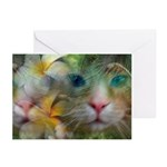 Tropical Cat Greeting Cards (Pk of 10)
