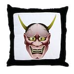 Han-nya Throw Pillow