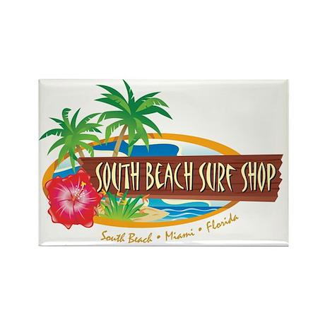 South Beach Surf Shop - Rectangle Magnet