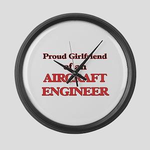 Proud Girlfriend of a Aircraft En Large Wall Clock