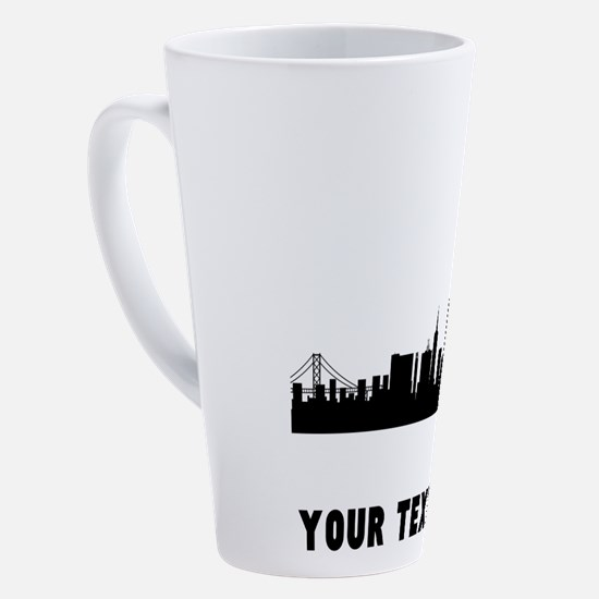 Cute San francisco city 17 oz Latte Mug