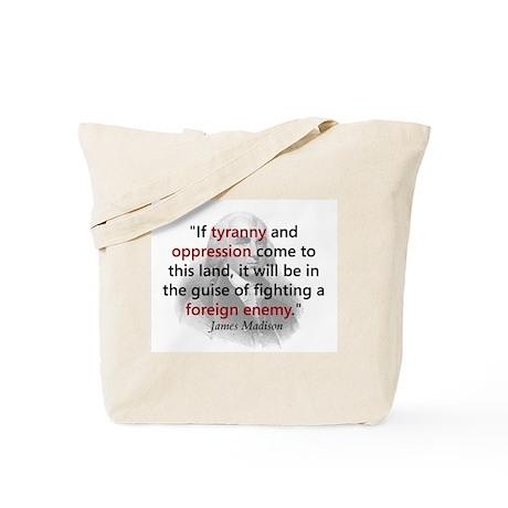 James Madison Tote Bag
