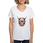Han-nya Women's V-Neck T-Shirt