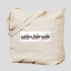 "French Horn ""Carpe Hornum"" Tote Bag"