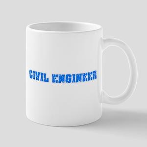 Civil Engineer Blue Bold Design Mugs