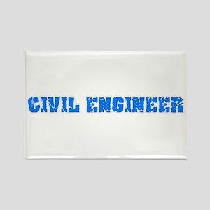 Civil Engineer Blue Bold Design Magnets