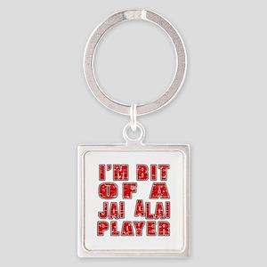 I'm Bit Of Jai Alai Player Square Keychain