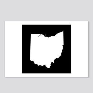 ohio white black Postcards (Package of 8)
