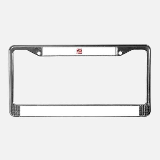 I'm Bit Of Ice Hockey Player License Plate Frame