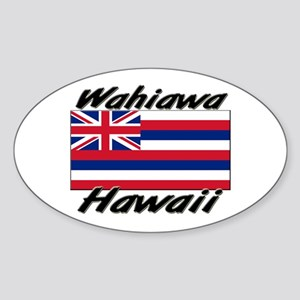 Wahiawa Hawaii Oval Sticker