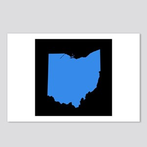 ohio blue black Postcards (Package of 8)