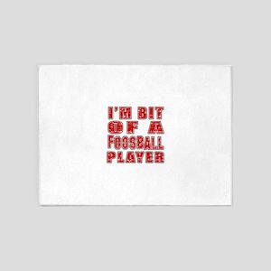 I'm Bit Of Foosball Player 5'x7'Area Rug