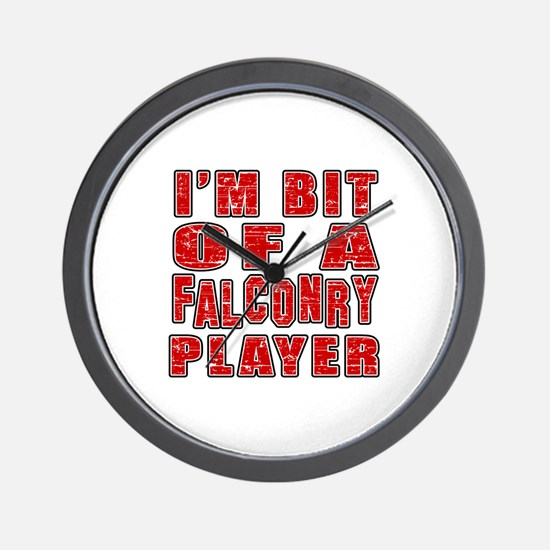 I'm Bit Of Falconry Player Wall Clock