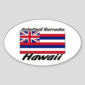 Schofield Barracks Hawaii Oval Sticker