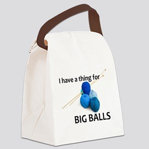 Knitting Gifts - Knitter Big Ball Canvas Lunch Bag