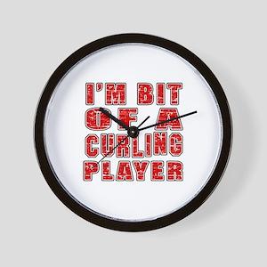 I'm Bit Of Curling Player Wall Clock