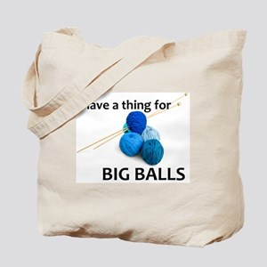 Knitting Gifts - Knitter Big Balls Tote Bag