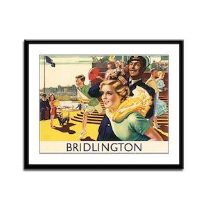Vintage Bridlington Travel Po Framed Panel Print