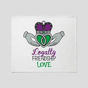 Loyalty Friendship Love Throw Blanket