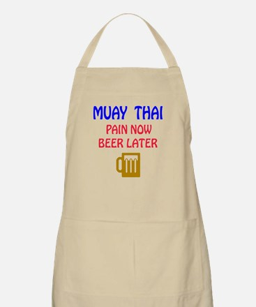 Muay Thai Pain Now Beer Later Apron