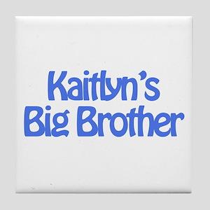 Kaitlyn's Big Brother Tile Coaster