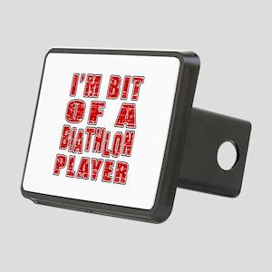 I'm Bit Of Biathlon Player Rectangular Hitch Cover