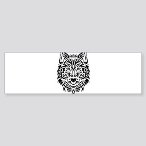 wolf tribal tattoo Bumper Sticker