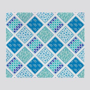 SUMMER BLUES Throw Blanket
