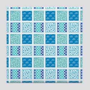 SUMMER BLUES Tile Coaster