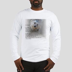 Maltese poem Long Sleeve T-Shirt