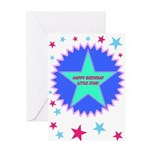 Happy Birthday Little Star Greeting Cards
