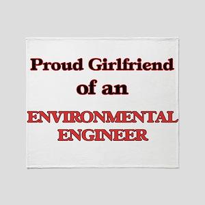 Proud Girlfriend of a Environmental Throw Blanket