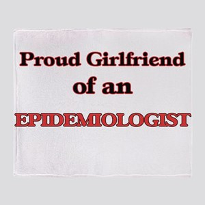 Proud Girlfriend of a Epidemiologist Throw Blanket