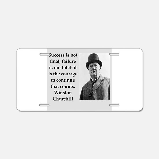 Wisnton Churchill quote on gifts and t-shirts. Alu