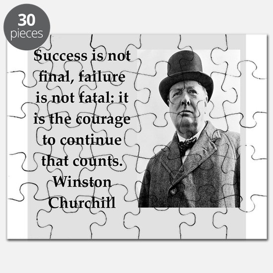 Wisnton Churchill quote on gifts and t-shirts. Puz
