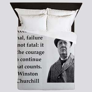 Wisnton Churchill quote on gifts and t-shirts. Que