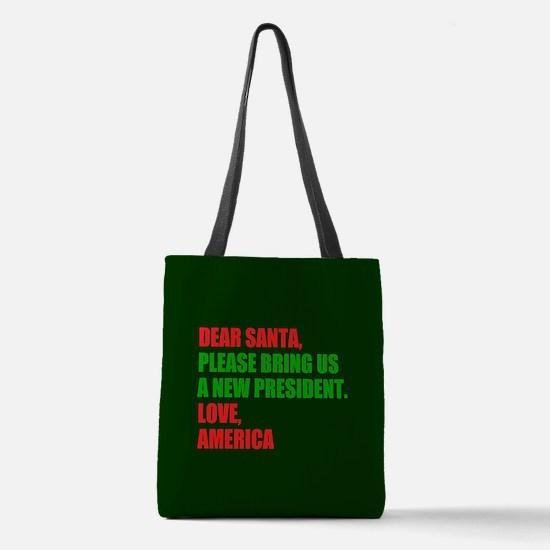 Dear Santa Impeach Trump Polyester Tote Bag
