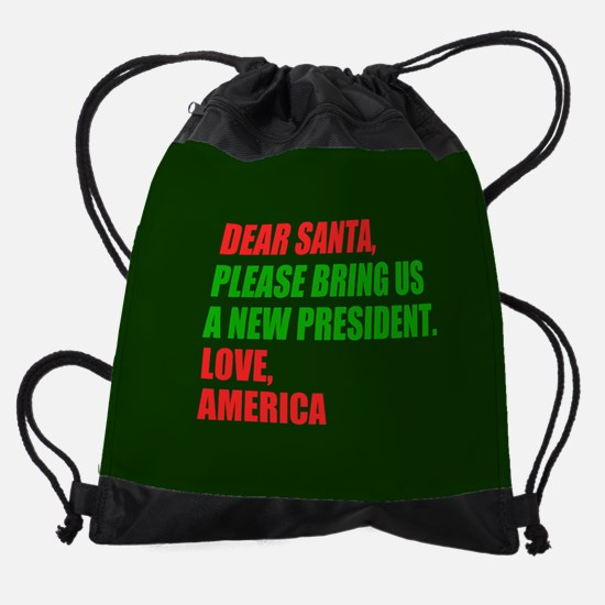 Dear Santa Impeach Trump Drawstring Bag