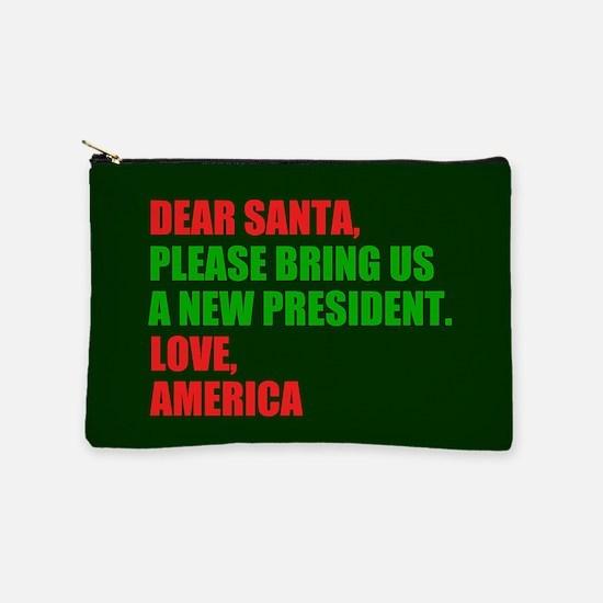 Dear Santa Impeach Trump Makeup Bag