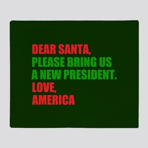 Dear Santa Impeach Trump Throw Blanket
