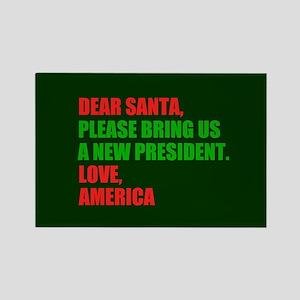 Dear Santa Impeach Trump Rectangle Magnet
