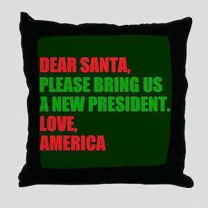 Dear Santa Impeach Trump Throw Pillow