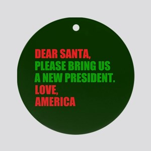 Dear Santa Impeach Trump Round Ornament